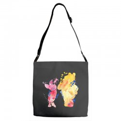 watercolor piglet and winnie pooh Adjustable Strap Totes | Artistshot