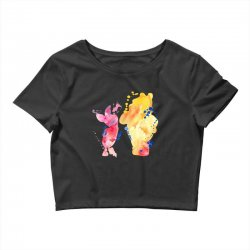 watercolor piglet and winnie pooh Crop Top | Artistshot