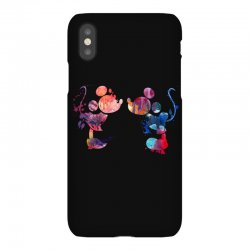 mickey and minnie mouse love watercolor iPhoneX Case | Artistshot