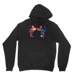 mickey and minnie mouse love watercolor Unisex Hoodie | Artistshot