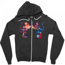 mickey and minnie mouse love watercolor Zipper Hoodie | Artistshot
