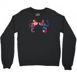 mickey and minnie mouse love watercolor Crewneck Sweatshirt | Artistshot