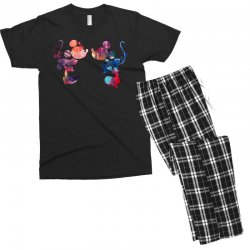 mickey and minnie mouse love watercolor Men's T-shirt Pajama Set | Artistshot