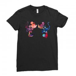 mickey and minnie mouse love watercolor Ladies Fitted T-Shirt | Artistshot