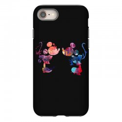 mickey and minnie mouse love watercolor iPhone 8 Case | Artistshot