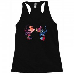 mickey and minnie mouse love watercolor Racerback Tank | Artistshot