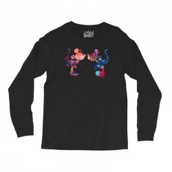 mickey and minnie mouse love watercolor Long Sleeve Shirts | Artistshot