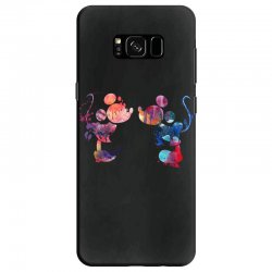 mickey and minnie mouse love watercolor Samsung Galaxy S8 Case | Artistshot