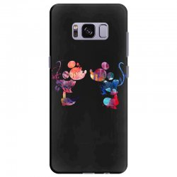 mickey and minnie mouse love watercolor Samsung Galaxy S8 Plus Case | Artistshot
