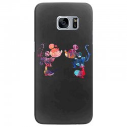 mickey and minnie mouse love watercolor Samsung Galaxy S7 Edge Case | Artistshot