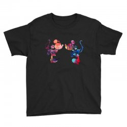 mickey and minnie mouse love watercolor Youth Tee | Artistshot