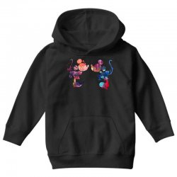 mickey and minnie mouse love watercolor Youth Hoodie | Artistshot