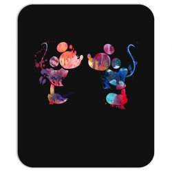mickey and minnie mouse love watercolor Mousepad | Artistshot