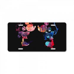 mickey and minnie mouse love watercolor License Plate | Artistshot