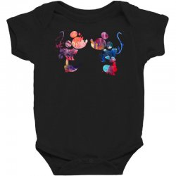 mickey and minnie mouse love watercolor Baby Bodysuit | Artistshot