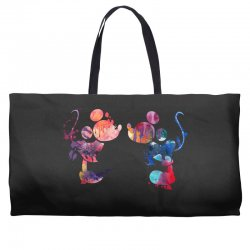 mickey and minnie mouse love watercolor Weekender Totes | Artistshot