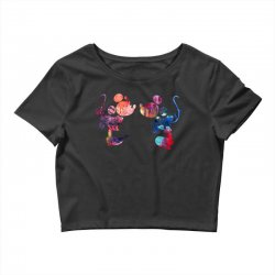 mickey and minnie mouse love watercolor Crop Top | Artistshot