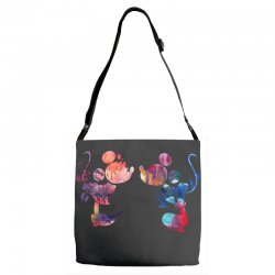 mickey and minnie mouse love watercolor Adjustable Strap Totes | Artistshot