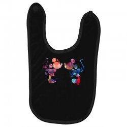 mickey and minnie mouse love watercolor Baby Bibs | Artistshot