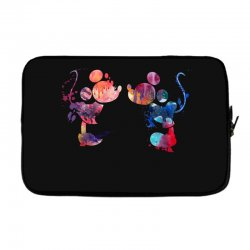 mickey and minnie mouse love watercolor Laptop sleeve | Artistshot