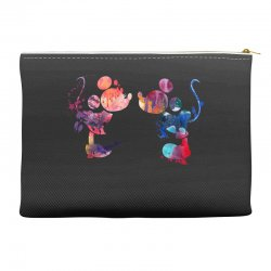 mickey and minnie mouse love watercolor Accessory Pouches | Artistshot