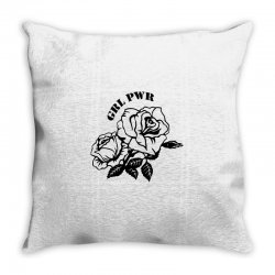 grl pwr for light Throw Pillow | Artistshot