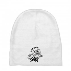 grl pwr for light Baby Beanies | Artistshot