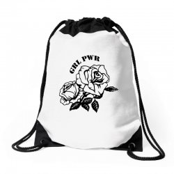 grl pwr for light Drawstring Bags | Artistshot