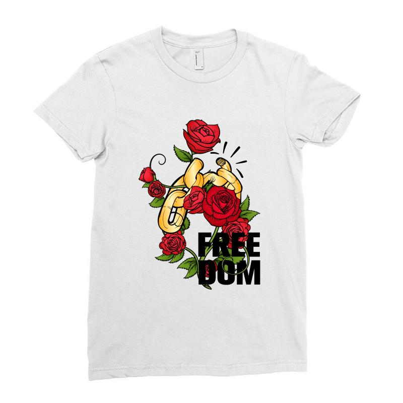Freedom For Light Ladies Fitted T-shirt | Artistshot