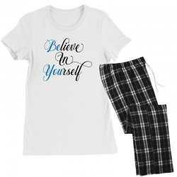 believe in yourself for light Women's Pajamas Set | Artistshot