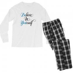 believe in yourself for light Men's Long Sleeve Pajama Set | Artistshot