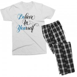 believe in yourself for light Men's T-shirt Pajama Set | Artistshot