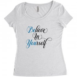 believe in yourself for light Women's Triblend Scoop T-shirt | Artistshot