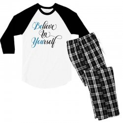 believe in yourself for light Men's 3/4 Sleeve Pajama Set | Artistshot
