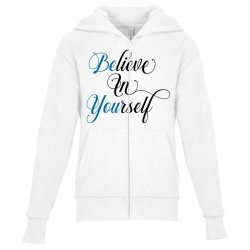 believe in yourself for light Youth Zipper Hoodie | Artistshot