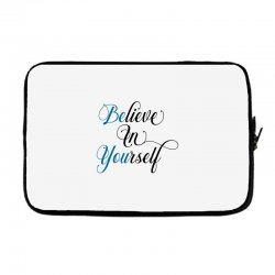 believe in yourself for light Laptop sleeve | Artistshot