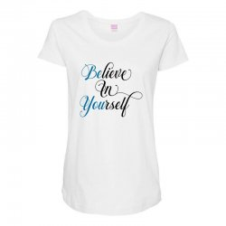 believe in yourself for light Maternity Scoop Neck T-shirt | Artistshot