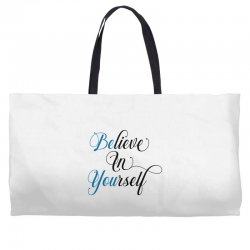 believe in yourself for light Weekender Totes | Artistshot