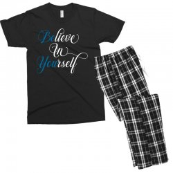 believe in yourself for dark Men's T-shirt Pajama Set | Artistshot