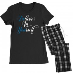 believe in yourself for dark Women's Pajamas Set | Artistshot