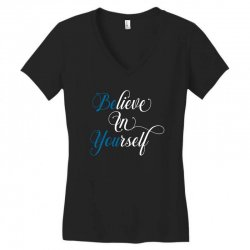 believe in yourself for dark Women's V-Neck T-Shirt | Artistshot