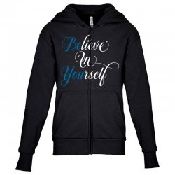 believe in yourself for dark Youth Zipper Hoodie | Artistshot