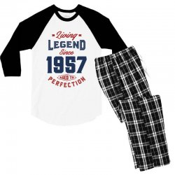 Living Legend 1957 Men's 3/4 Sleeve Pajama Set | Artistshot