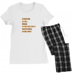 FRIEND REAL IDEA EMERGENCY NOTHING DREAMS Women's Pajamas Set | Artistshot