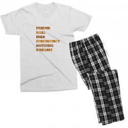 FRIEND REAL IDEA EMERGENCY NOTHING DREAMS Men's T-shirt Pajama Set | Artistshot