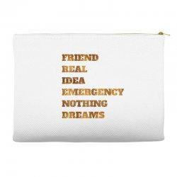 FRIEND REAL IDEA EMERGENCY NOTHING DREAMS Accessory Pouches | Artistshot
