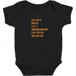 FRIEND REAL IDEA EMERGENCY NOTHING DREAMS Baby Bodysuit | Artistshot