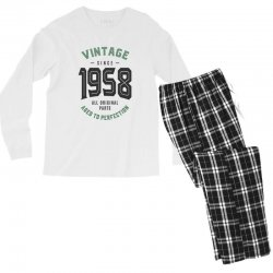 Vintage Since 1958 Men's Long Sleeve Pajama Set | Artistshot