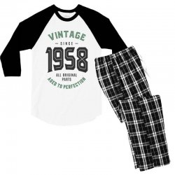 Vintage Since 1958 Men's 3/4 Sleeve Pajama Set | Artistshot
