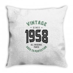 Vintage Since 1958 Throw Pillow | Artistshot